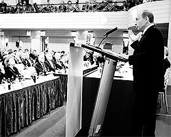 Еще семь лет назад, в мюнхенской речи Путин показал, что Россия сосредотачивается (фото: kremlin.ru)