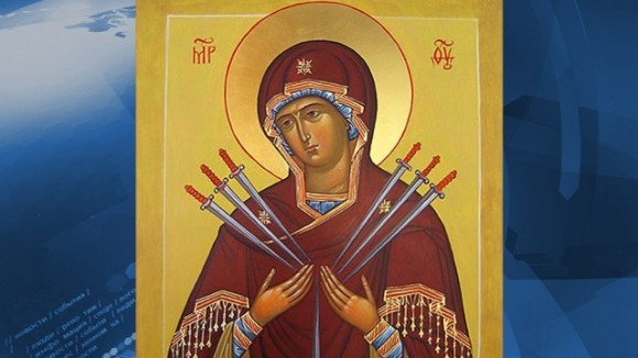 Волгоград облетела на вертолете икона Божией Матери