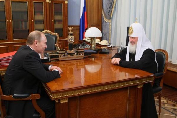 Владимир Путин признался в огромном уважении к Патриарху Кириллу