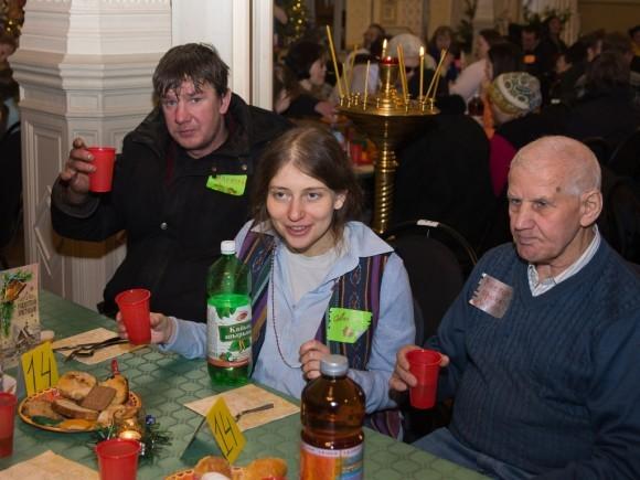 Рождественский обед для бездомных