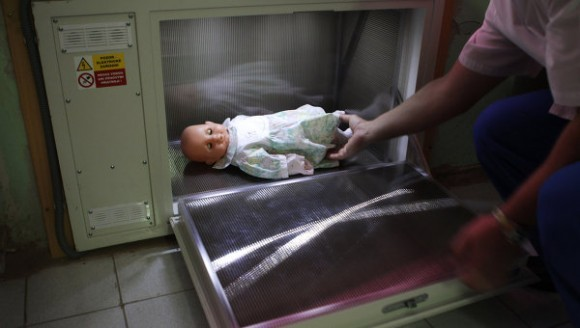 """Новорожденного младенца подкинули в """"бэби-бокс"""" в Перми"""