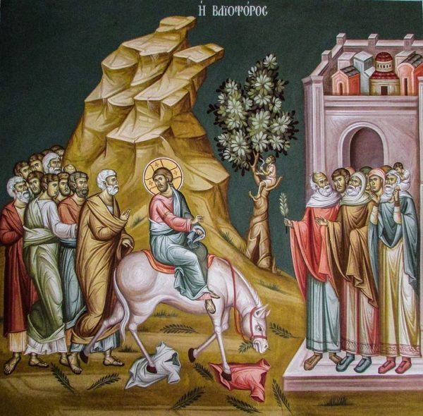 Вербное воскресенье - воскрешение Лазаря