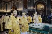 В праздник Рождества Христова Предстоятель Русской Церкви совершил Божественную литургию в Храме Христа Спасителя