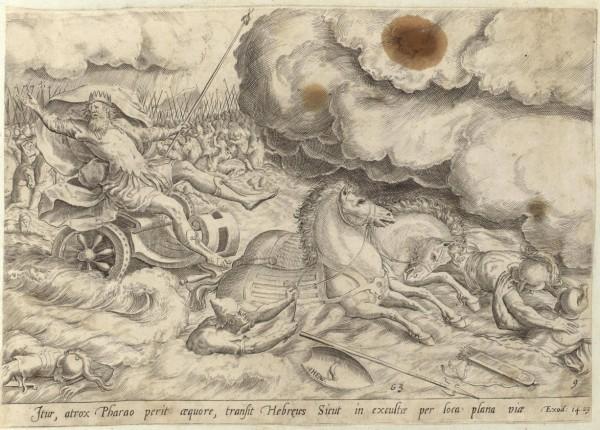 Гибель войска фараона в море. Библия Пискатора