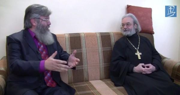 Протоиерей Александр Ильяшенко и Владимир Лавров