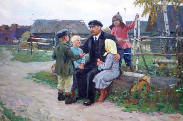 Картина «Ленин и дети»