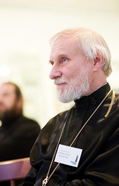 Протоиерей Александр Борисов на Меневских чтениях в сентябре 2013 года