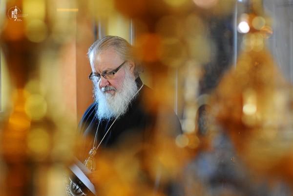 Патриаршее служение в Покровском ставропигиальном монастыре во вторник первой седмицы Великого поста
