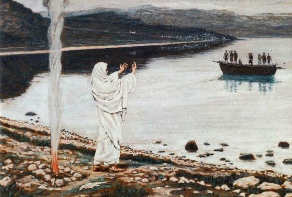 Явление Иисуса Христа на берегу Тивериадского озера по воскресении. Джеймс Тиссо