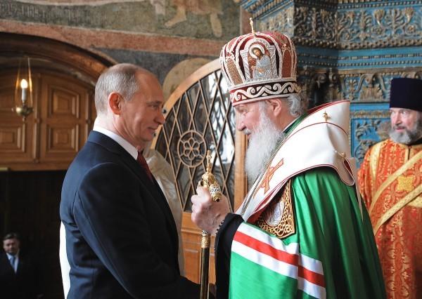 Молебен в Благовещенском соборе Кремля в день инаугурации Президента Российской Федерации В.В. Путина