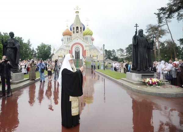 Освящение памятников святителю Филиппу Московскому и святому благоверному князю Игорю Черниговскому в Переделкине