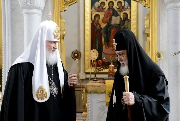 Встреча Святейшего Патриарха Кирилла с делегацией Грузинской Православной Церкви