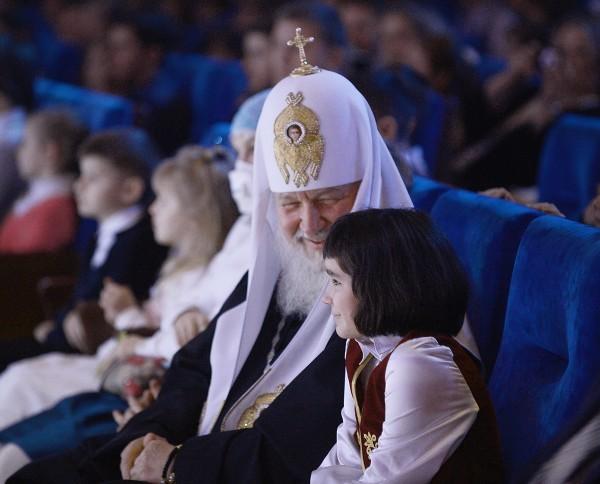 Посещение Святейшим Патриархом Кириллом Рождественского праздника в Государственном Кремлевском дворце
