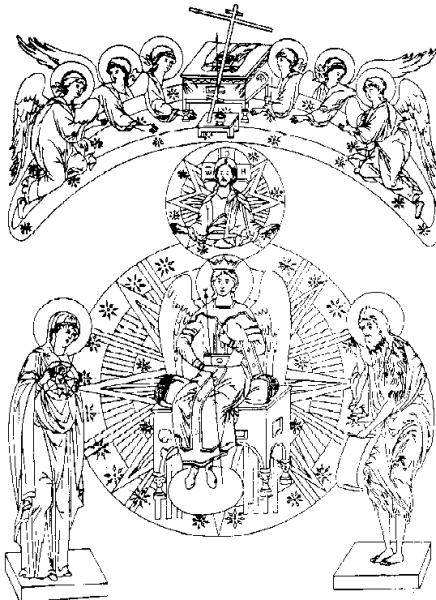 Новгородская икона Софии Премудрости Божией.