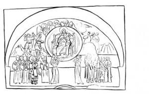 Рис. 5. Что Ти принесем, Христе. Фреска в Жиче. 10-е гг. XIV в.