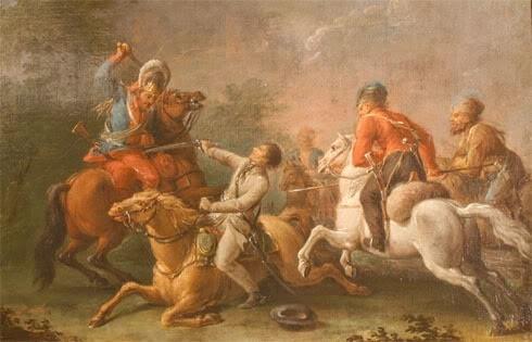Ян Богумил Плерш.  Ранение и взятие в плен Тадеуша Костюшко под Мацеёвицами 10 октября 1794 года