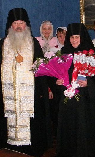 М. Людмила в день монашеского пострига