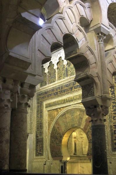 Собор-мечеть в Кордове (интерьер, мехраб мечети)