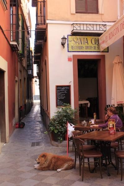 Улица поцелуев в Севилье