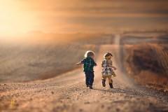 Волшебные фотографии детей и животных на американском Западе