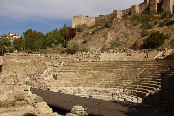 Алькасар (арабская крепость) и римский амфитеатр в Малаге