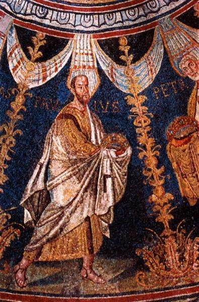 Святой апостол Павел. Мозаика базилики Сан Витале в Равенне. 546–548 г. Италия