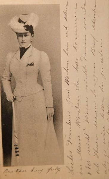 Великая княгиня Елизавета Феодоровна. Фотография подписана бабушке Майи Ферзен