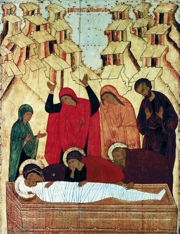 Положение во гроб Рус. Север. 15 в.
