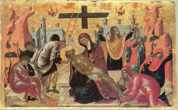 Снятие с креста. Крит 16 в.