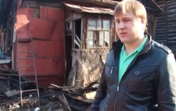 Житель Тулы спас пожилого соседа во время пожара