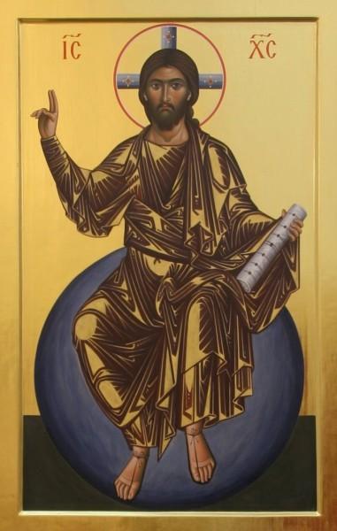 Спас Вседержитель на Престоле. Фрески монастыря Симона Петра на Афоне