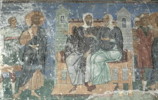 Фреска Спасо-Преображенского собора Мирожского монастыря. Ок. 1156 г. Псков