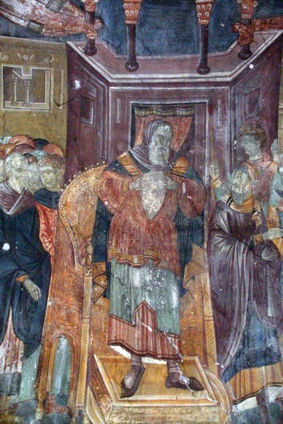 Фреска Успенской церкви монастыря Грачаница. 1320-1321 г. Косово, Сербия