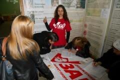 Епархиальные волонтеры Пятигорска собирали подписи за законодательный запрет абортов