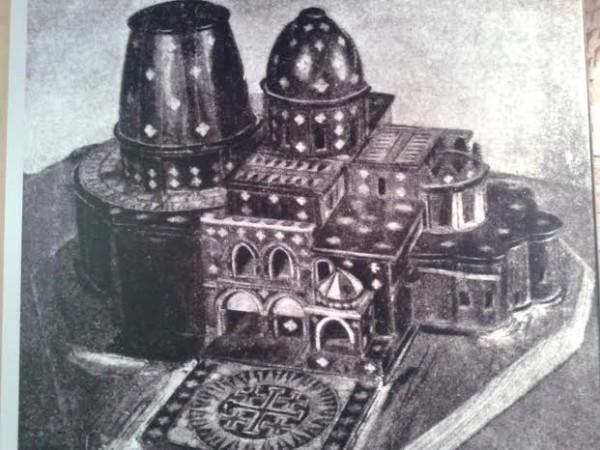 Макет Воскресенского собора в Иерусалиме, привезённый патриарху Никону