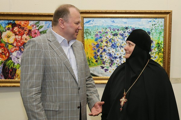 В Калининграде проходит выставка картин настоятельницы Свято-Елисаветинского женского монастыря
