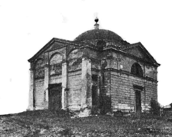 Графическая реконструкция общего вида храма в Мольгино