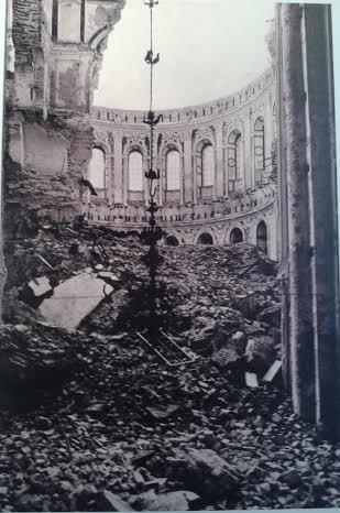 Воскресенский собор Новоиерусалимского монастыря после взрыва