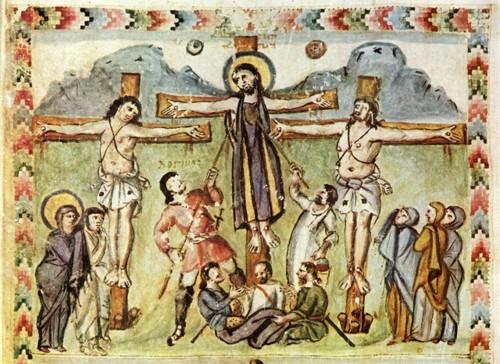 Миниатюра Кодекса Раввулы. 586 г. Библиотека Лауренциана, Флоренция, Италия