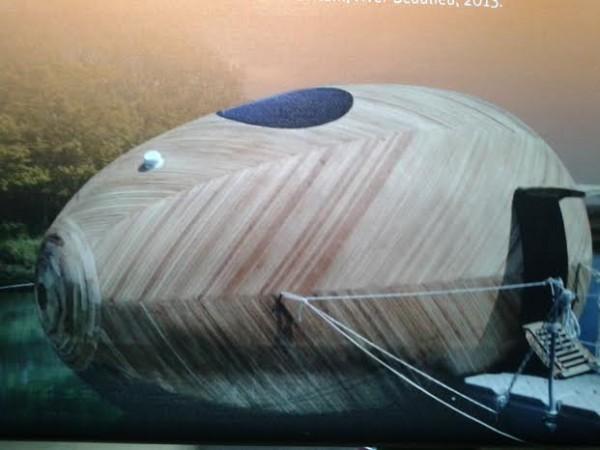 Плавающий дом-лаборатория Exbury egg. Великобритания. Проект Стивена Тёрнера