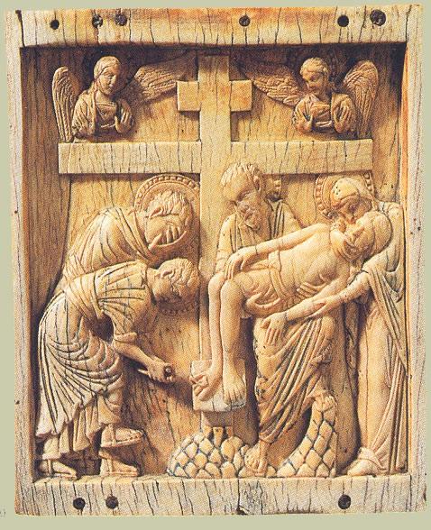 Резная икона. Византия. Рубеж XI - XII в. Государственный Эрмитаж, Спб.