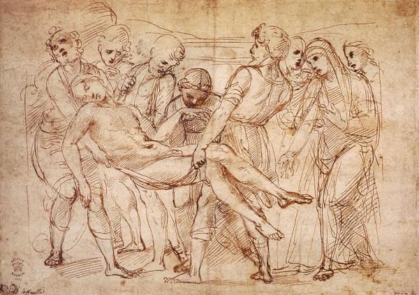 Рафаэль Санти. 1507 г. Рисунок пером