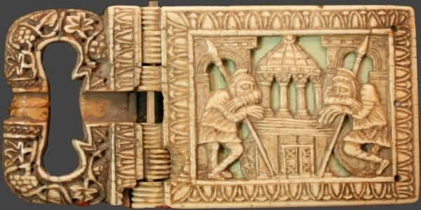 Пряжка от пояса Цезария Арльского. Лотарингия. г. Мец. VI в. Музей Арля и античного Прованса, Франция