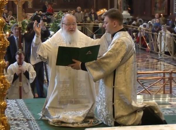 В преддверии Святой Пасхи Патриарх Кирилл совершил молитву об Украине