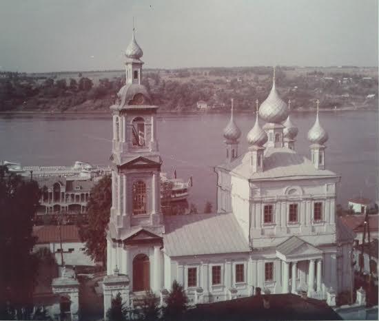 Воскресенска церковь г. Плёс. 1817 год. Фото 1970-х годов