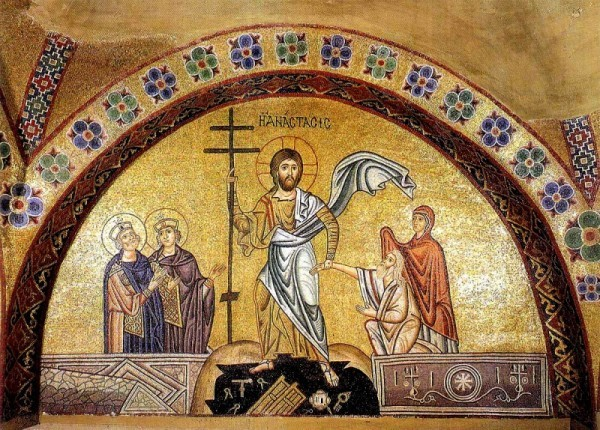 Воскресение Христово. Мозаика монастыря Осиос Лукас. XI в.