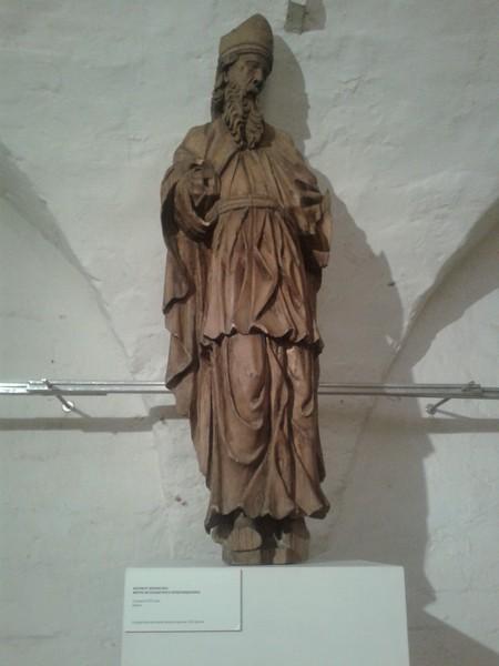 Фигура ветхозаветного первосвященника. Фрагмент иконостаса. Середина XVIII века