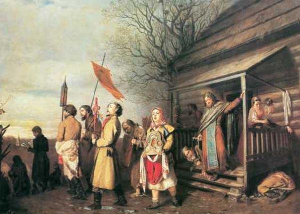 В. Г. Перов. «Сельский крестный ход на Пасхе». 1861 г
