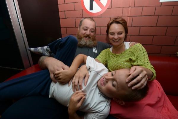 Петр, Ольга и Алеша Свешниковы