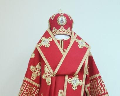 Патриарх Кирилл подарил музею Кемеровской епархии свои богослужебное облачение и мантию